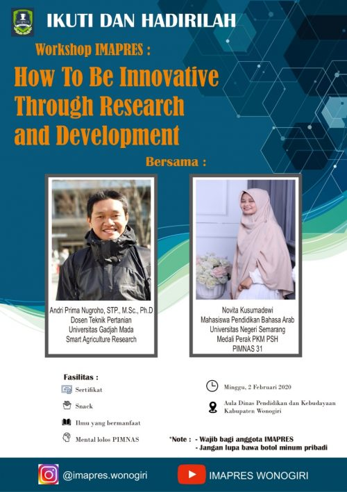 "Workshop IMAPRES ""How To Be Innovative Through Research and Development"""