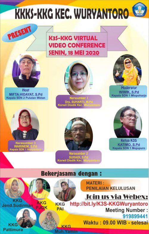 K3S dan Forum KKG Wuryantoro Selenggarakan Vicon Perdana