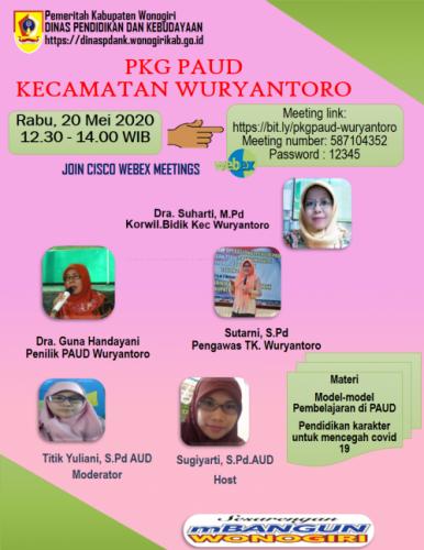 Antusiasme Pendidik PAUD Wuryantoro Ikuti Vicon PKG dan KKG