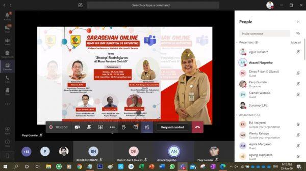 MGMP IPA SMP Subrayon 03 Gelar Sarasehan Online