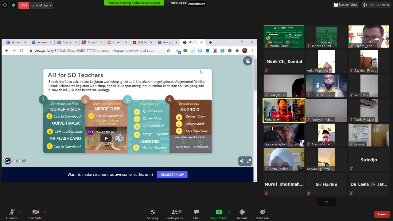 Tanoto Foundation Latih Guru-Guru Gunakan Teknologi Pembelajaran Terkini Berbasis Augmented Reality