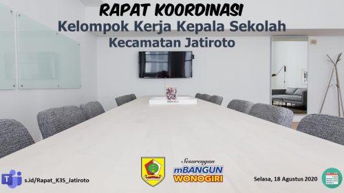 Melalui Teams, K3S Jatiroto Gelar Rapat Koordinasi