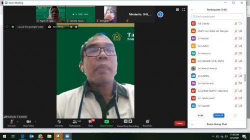 Pendampingan MGMP Bahasa Indonesia oleh FASDA Tanoto Foundation Di Tengah Pandemi Covid-19 Digelar Secara Virtual