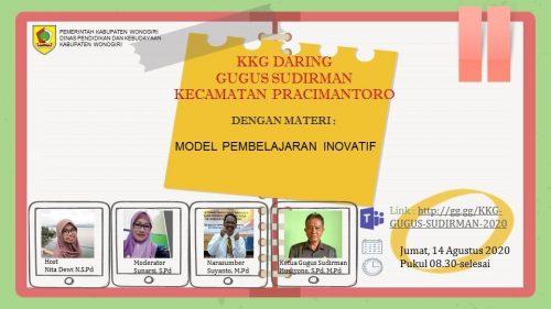 KKG Gugus Sudirman Pracimantoro Gelar Vicon Membahas Model Pembelajaran Inovatif