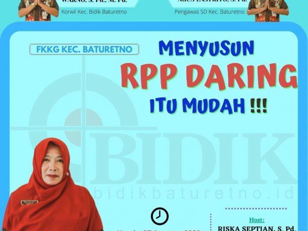 FKKG Baturetno Gelar Vicon Penyusunan RPP Daring