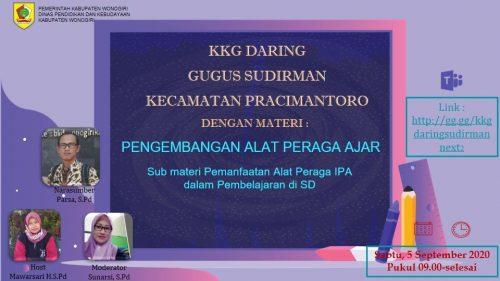 Kreatif Mengembangkan Alat Peraga IPA Bersama KKG Daring Gugus Jendral Sudirman Di Pracimantoro