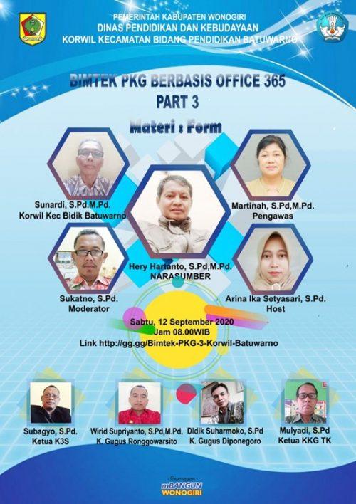 Wilayah Kecamatan Bidik Batuwarno Gelar Bimtek PKG Berbasis Office 365