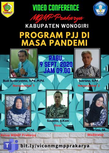 MGMP Prakarya Kabupaten Wonogiri Selenggarakan MGMP Online  Bertema Program PJJ Di Masa Pandemi
