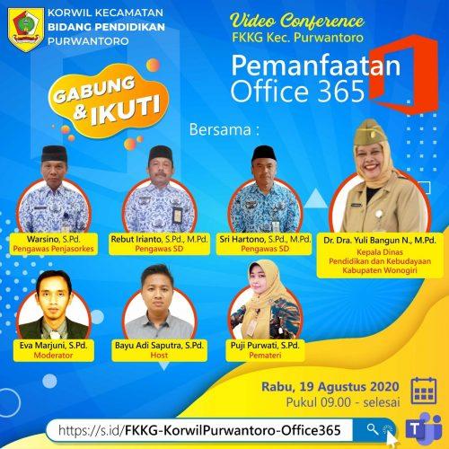 FKKG Purwantoro Optimalkan Pemanfaatan Office 365  dalam Pembelajaran Melalui KKG Virtual