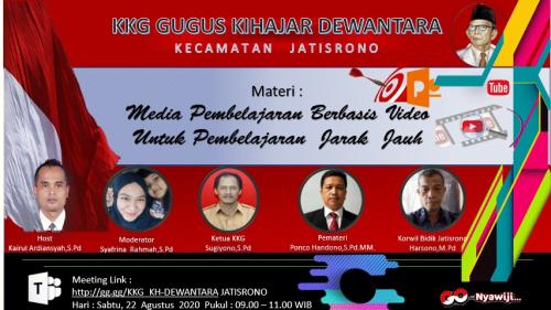 KKG Ki Hajar Dewantara Jatisrono Siapkan Video Pembelajaran
