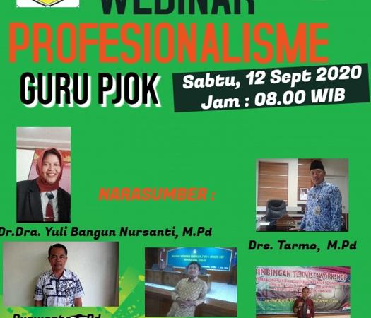 MGMP PJOK Kab. Wonogiri Selenggarakan Webinar Bertema  Profesionalisme guru PJOK SMP