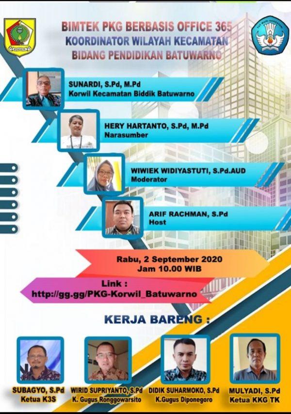 Korwil Bidik Kecamatan Batuwarno Selenggarakan Vicon PKG Berbasis Office 365