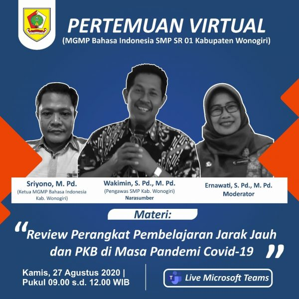 MGMP Bahasa Indonesia SR 01 Review Perangkat PJJ dan PKB Secara Virtual