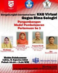 Gugus Bima Selogiri Virtual Conference Pengembangan Model Pembelajaran