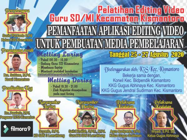 KKKS Kecamatan Kismantoro Gelar Pelatihan Editing Video Pembelajaran