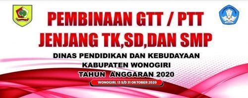 Dinas P dan K Selenggarakan Pembinaan GTT/PTT TK, SD, dan SMP Kecamatan Giritontro dan Paranggupito