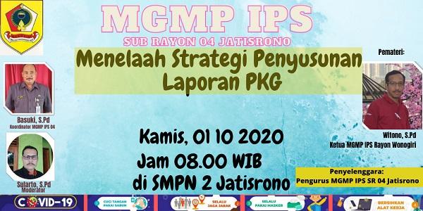 Secara Tatap Muka di Gelar Pertemuan Reguler MGMP IPS Sub Rayon 04 Jatisrono