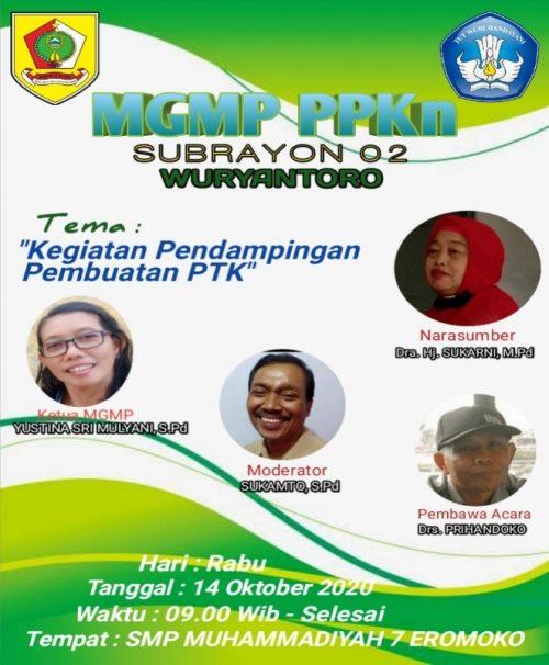 Tingkatkan Kompetensi, MGMP PPKn Subrayon 02 Wuryantoro Gelar Pendampingan Penulisan PTK