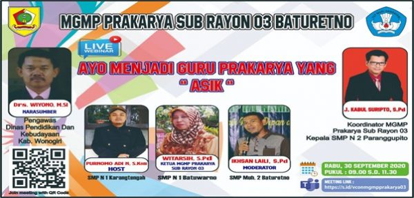 MGMP Prakarya Subrayon 03 Serukan Jadi Guru ASIK