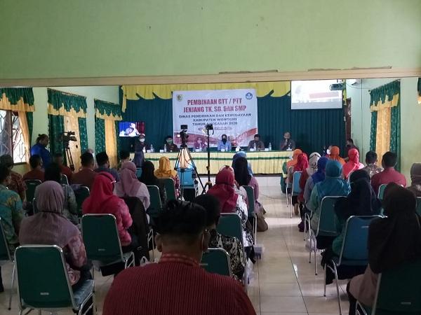 Pembinaan GTT/PTT TK, SD, dan SMP Wilcambidik Girimarto dan Sidoharjo Berlangsung Meriah