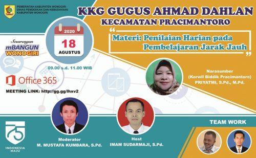KKG KH Ahmad Dahlan Gelar Penilaian Virtual