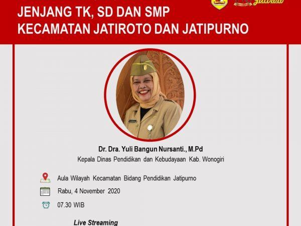 Sempat Byar Pet, Dinas P dan K Wonogiri Sukses Gelar Pembinaan GTT/PTT di Jatinesia