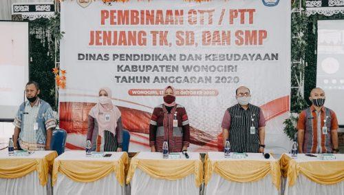 Penuh Semangat dan Segudang Harapan GTT / PTT Baturetno dan Giriwoyo Sambut Pembinaan Dinas