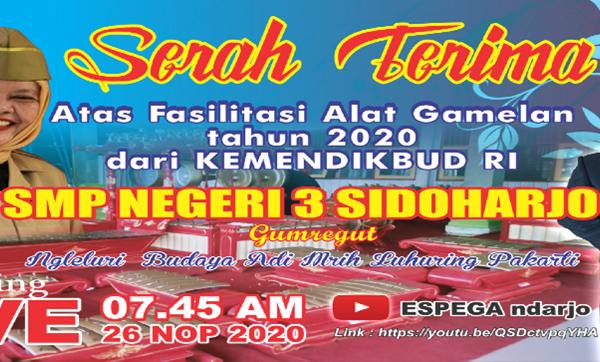 SMPN 3 Sidoharjo Ngleluri Budaya Adi Mrih Luhuring Budi Lan Pakarti