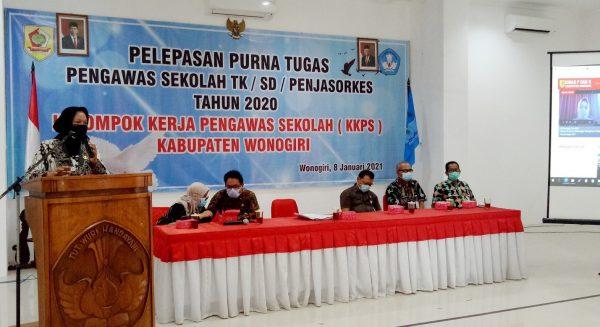 KKPS Kabupaten Wonogiri Gelar Pelepasan Purna Tugas Pengawas Tahun 2020