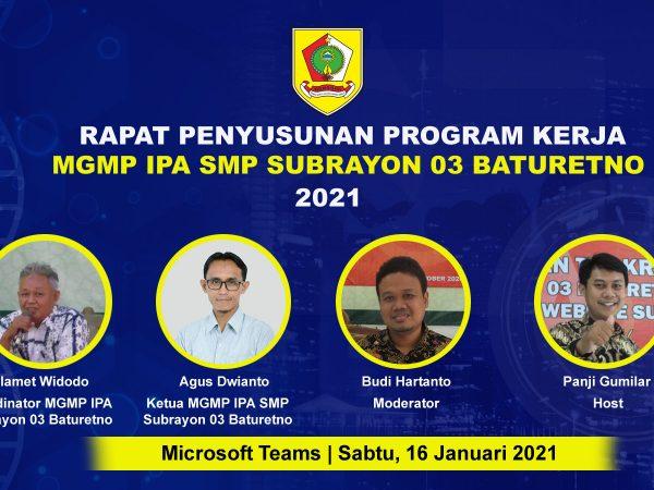 MGMP IPA Subrayon 03 Sukses Gelar Rakor Penyusunan Program Kerja