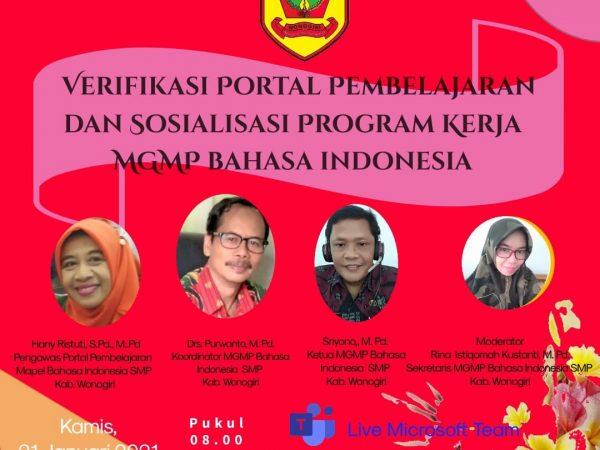 MGMP Bahasa Indonesia Gelar Sosialisasi Program Kerja