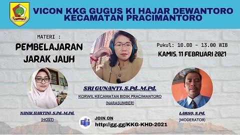 KKG Perdana Gugus Ki Hajar Dewantoro Pracimantoro