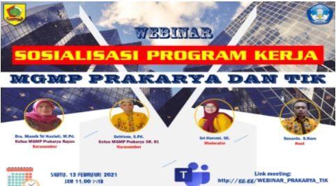 MGMP Prakarya dan TIK Gelar Sosialisasi Program Kerja 2021 Bersama