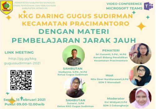 KKG Gugus Sudirman Pracimantoro Selenggarakan Kegiatan Perdana serta Webinar Tentang Pembelajaran Jarak Jauh