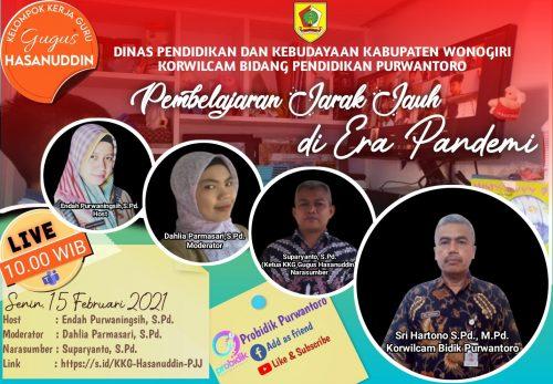 KKG Gugus Hasanuddin Hadapi Tantangan PJJ dengan Memanfaatkan Portal Pendidikan