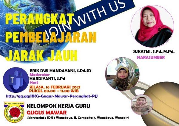 Join With Us Perangkat Pembelajaran Jarak Jauh bersama KKG Gugus Mawar Kecamatan Wonogiri