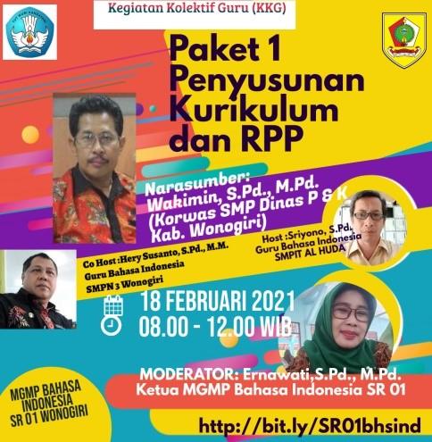MGMP Bahasa Indonesia Subrayon 01 Awali KKG Paket 1 Secara Virtual
