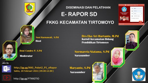 FKKG Kecamatan Tirtomoyo Selenggarakan Diseminasi dan Pelatihan e-Rapor SD