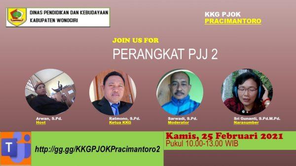 KKG PJOK Pracimantoro Gelar KKG Virtual Pengembangan RPP PJJ