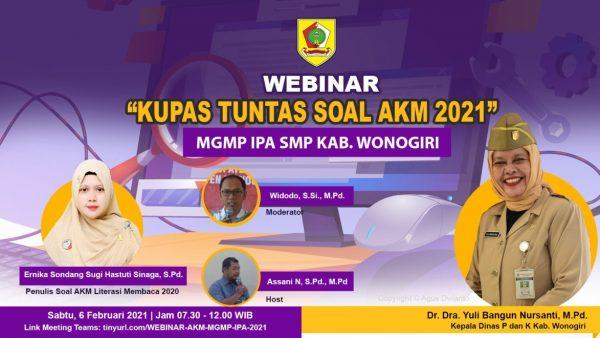 MGMP IPA Kupas Tuntas Soal AKM 2021