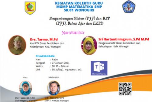 MGMP Matematika Sub Rayon 01 Wonogiri Melaksanakan KKG Paket 1