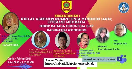 MGMP Bahasa Indonesia Pelopori Diklat Fungsional