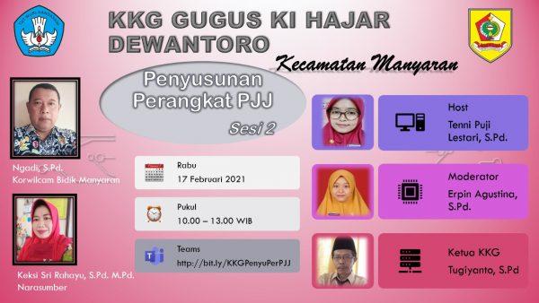 KKG Gugus Ki Hajar Dewantoro Manyaran Susun RPP Daring 4C