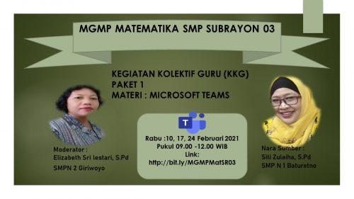 MGMP Matematika SR 03 Baturetno Gelar KKG dengan Materi Penggunaan IT dalam Pembelajaran Matematika