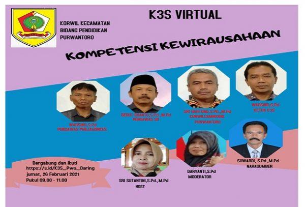 """K3S Virtual Purwantoro Angkat Tema """"Kompetensi Kewirausahaan"""""""