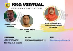 KKG Yudhistira Selogiri Gelar Webinar Pengembangan RPP PJJ