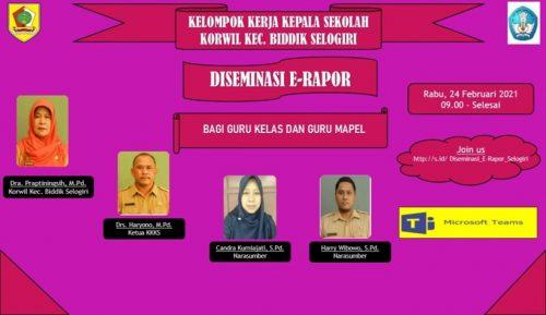 KKKS dan Tim Kreatif Kecamatan Selogiri Gelar Diseminasi E-Rapor