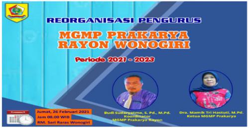MGMP Prakarya Rayon Wonogiri Gelar Reorganisasi