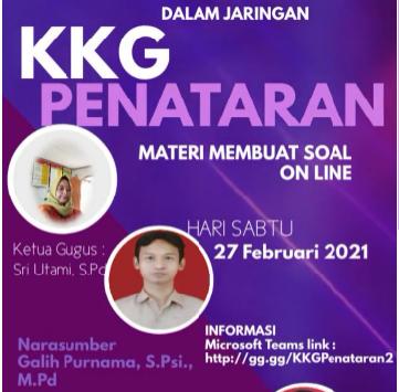 KKG Penataran Manyaran Pelajari Pembuatan Soal Online