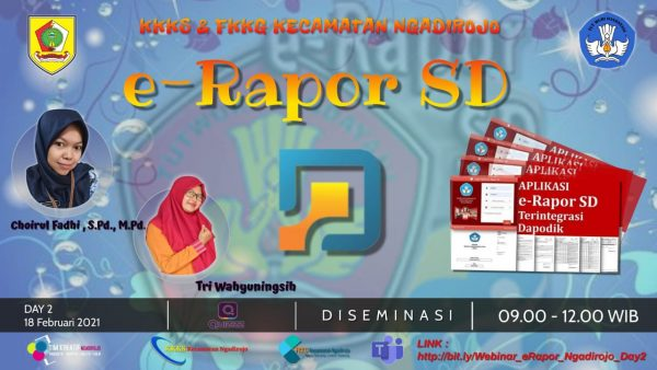 Diseminasi E-Rapor SD Hari Kedua Kecamatan Ngadirojo Sukses Digelar